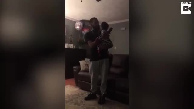 Mom secretly films son singing to disabled grandson, captures moment he breaks down in tears