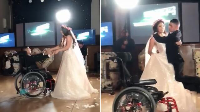 Terminally ill brother lives dream of dancing with sister at her wedding