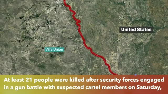 At least 21 dead in bloody cartel gunfight in Mexican town near Texas border
