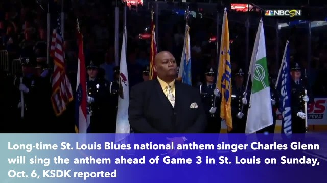 Charles Glenn comes back to sing National Anthem at Game 3 of NLDS at Busch Stadium