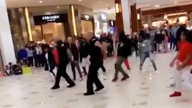 Officers pretend to break up flash mob, join dance routine in aventura mall