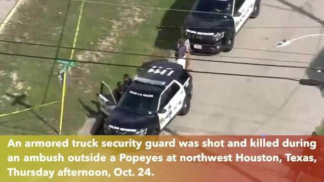Armored truck security guard shot in face during deadly ambush in Houston