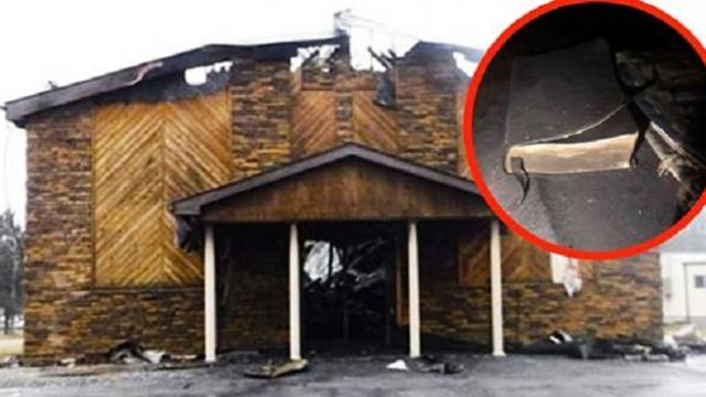 Church fire reaches more than 970 degrees – but doesn't burn a single Bible
