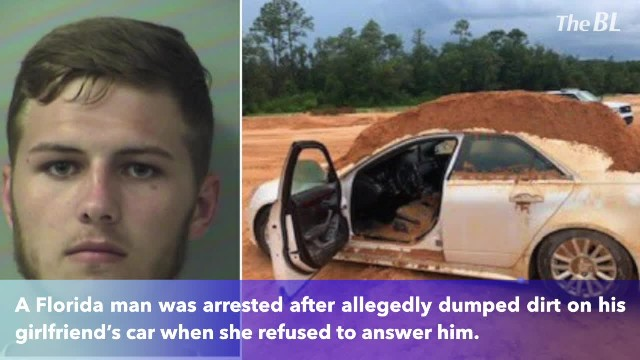 Florida man charged with criminal mischief for using front-end loader to dump dirt on girlfriend's c
