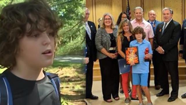 Fourth grader tells bus driver something smells funny— Now, people are calling him a hero