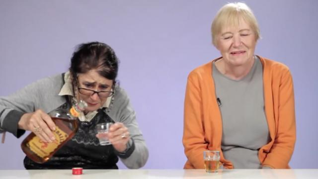 Watch these 4 grandmas try fireball whisky for the first time