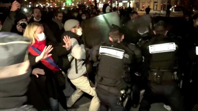 Afghan migrant shocked by French police beating