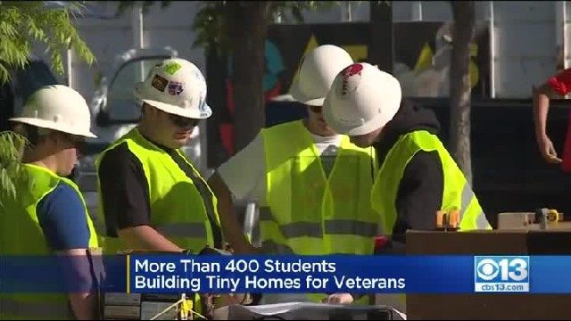More Than 400 High School Students In California Build Tiny Homes For Homeless Veterans