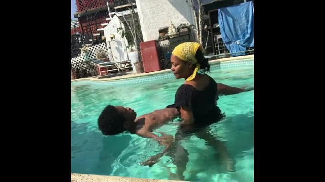 Actress Monica Calhoun Shares Touching Video As She Teaches Blind Adult Son Swimming