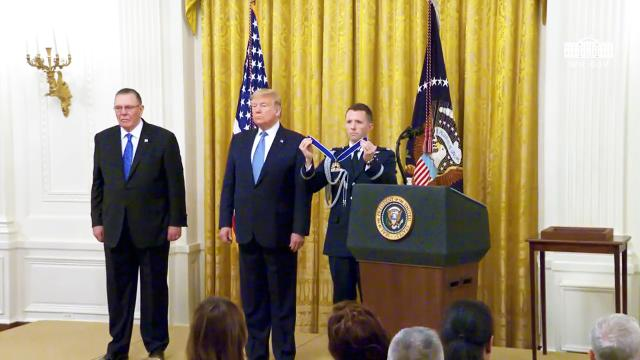 President Trump presents the presidential medal of freedom to General Jack Keane