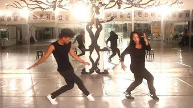 Deaf hip-hop momma shows off her moves and outdoes her son with perfect precision