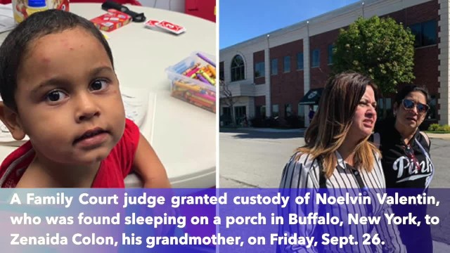 Florida woman granted custody of her 3-year-old grandson found on Buffalo porch