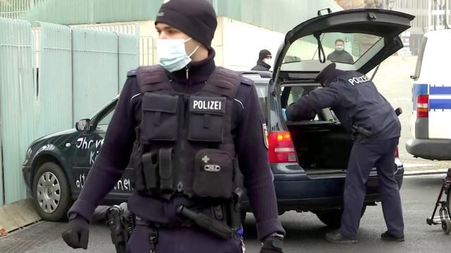 Car crashes into gate of Merkel's office
