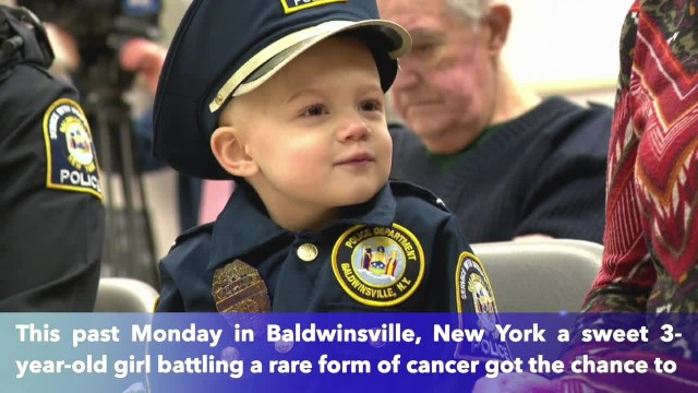 3-year-old girl battling cancer becomes honorary police officer