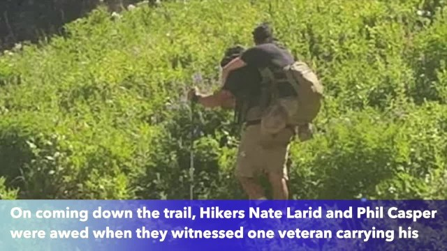 Veteran carries fellow Marine who lost his legs up in Afghanistan up Utah mountain