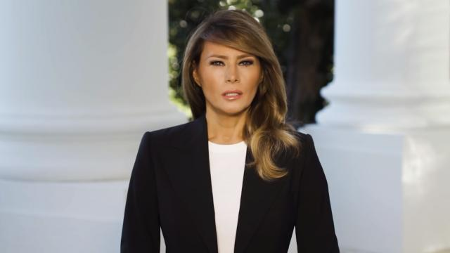 A message from First Lady Melania Trump to frontline responders