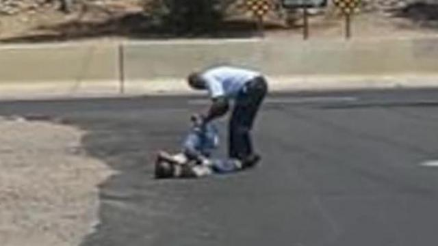 He pulls over at sight of man crawling on all fours, it doesn't take long for truth to get out
