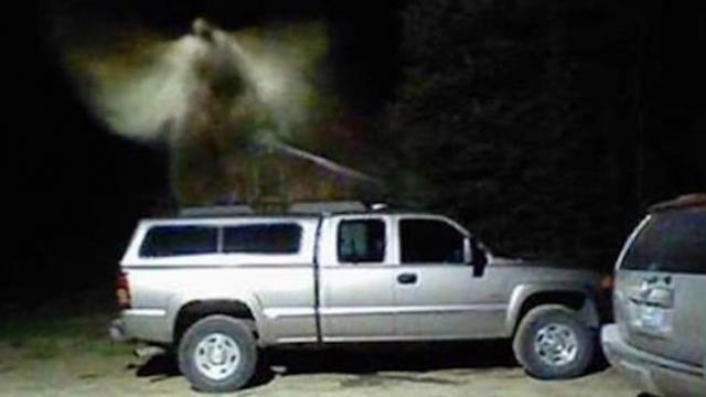 Couple's motion detector sets off alert and they swear it captured photos of hovering angel