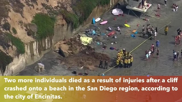 3 killed after cliff collapses on popular San Diego area beach