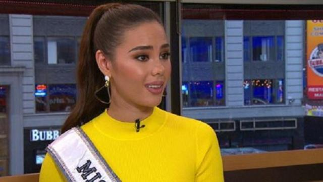 Newly-crowned Miss Universe Catriona Gray talks to Good Morning America