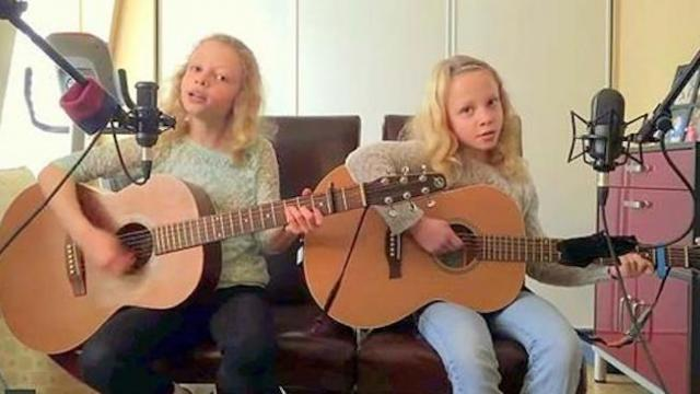 Mom knows her girls are talented, but the beauty of their song brought even her to tears.