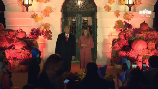 President Trump and The First Lady host halloween at the White House