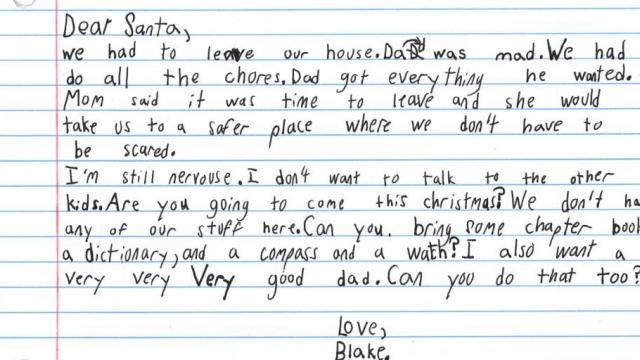 7-year-old Texas boy in domestic violence shelter writes heartbreaking letter to Santa