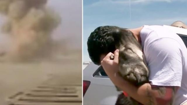 Ex-Army specialist had to leave dog in Iraq. One month later, they reunite on the other side of the
