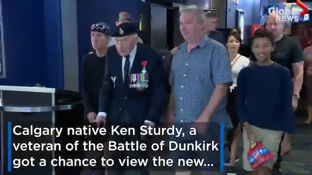 "97-Year-Old War Veteran Attends ""Dunkirk"" Movie Premiere. Walks Out of Theater and Breaks Down in Te"