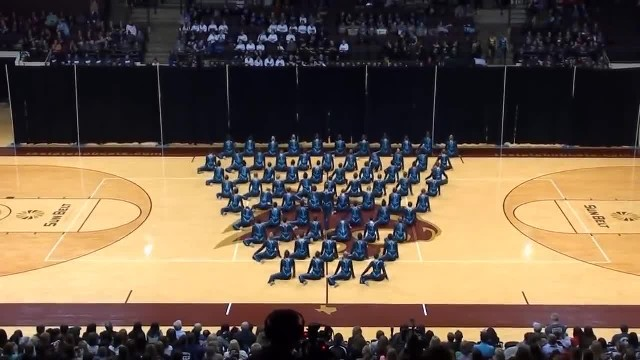 Dozens Of High School Dancers Put On A Spectacular High Kick Routine