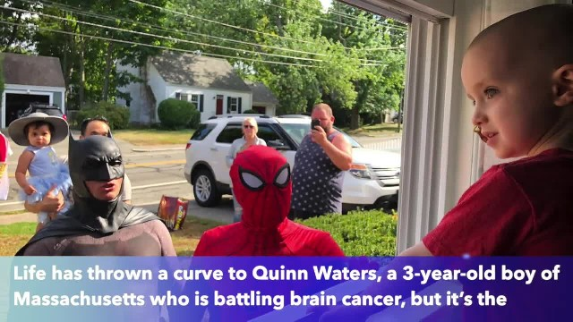 Boy, 3, in isolation in battling cancer receives visitors through his window