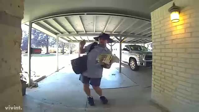 Mailman Dancing Caught On Camera - Comedy Videos
