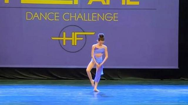 Tiny dancer chooses powerful song, then her delicate graceful moves put tears in everyone's eyes
