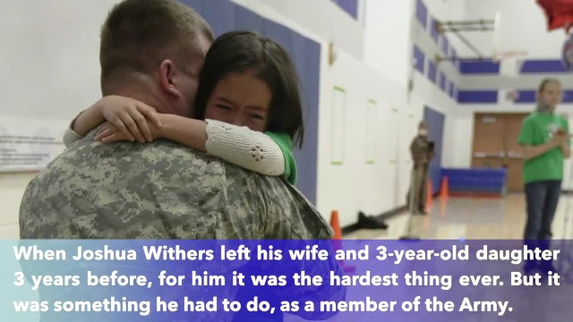 Soldier dad's surprise homecoming brings daughter to tears