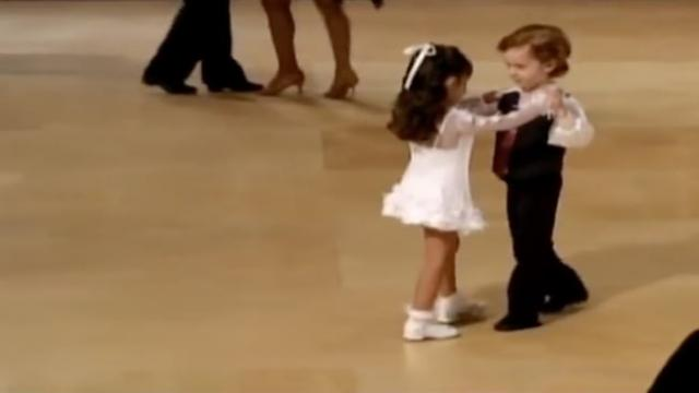 Dance floor is filled with rival couples, but watch when the youngest dancers take the floor and ste
