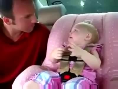 8-Month-Old Doesn't Know How To Talk, But She Still Gives Dad An Earful