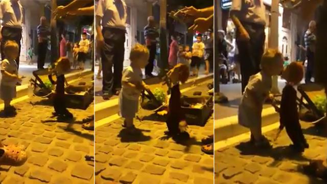 This toddler dancing with a puppet will be the cutest thing you