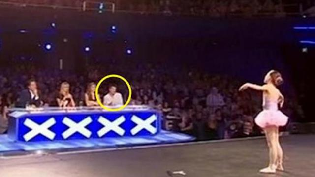 Girl begins to dance but gets stopped in a flash by Simon Cowell