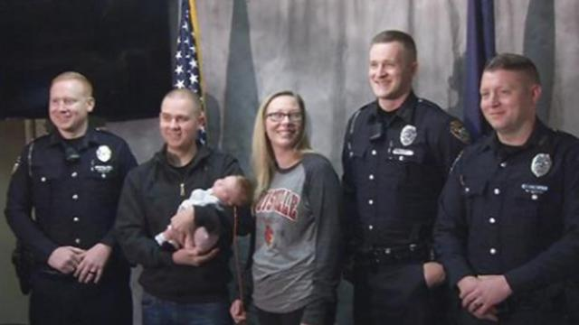 3 Mt. Washington officers help save life of baby after heart attack