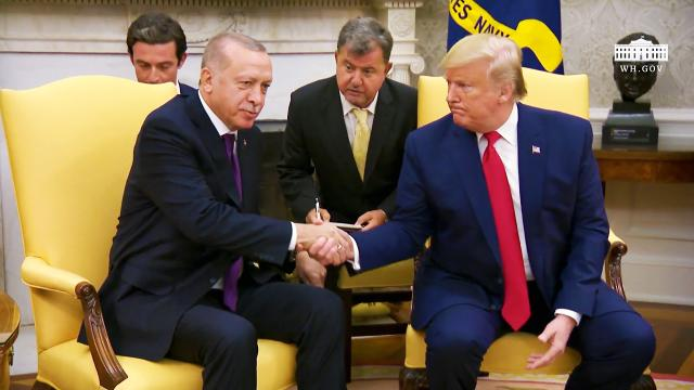 President Trump Participates in a 2:2 Meeting with the President of the Republic of Turkey