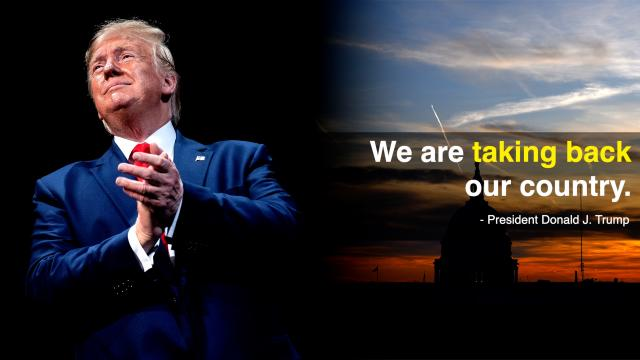 We are taking back our country