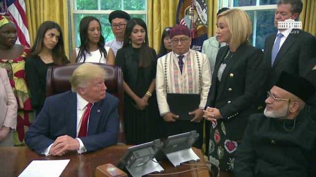 President Trump Meets with Survivors of Religious Persecution