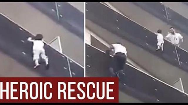 Immigrant quickly climbs 4 storeys to save child hanging off balcony, made honorary citizen for his