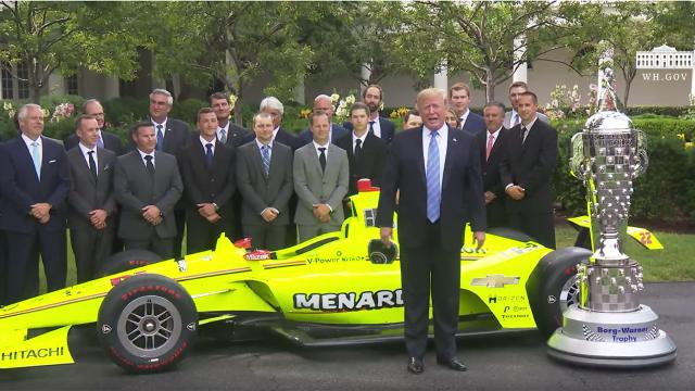 President Trump Greets the 103rd Indianapolis 500 Champions: Team Penske