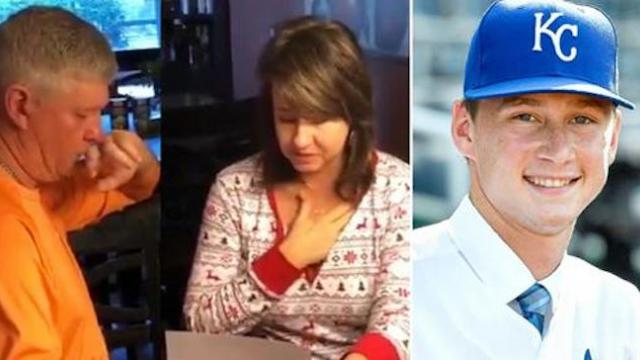 22-year-old is signed to major league baseball team, uses first paycheck to pay off parent's debt