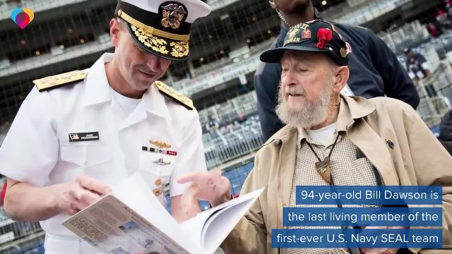 """ Last remaining member of first-ever Navy SEAL team celebrates 94th birthday"""