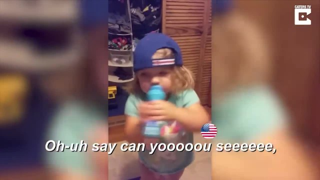 2-year-old listening to daddy sing mimics him and internet can't get enough