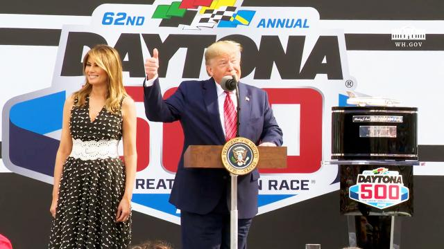 President Trump delivers remarks at the Daytona 500