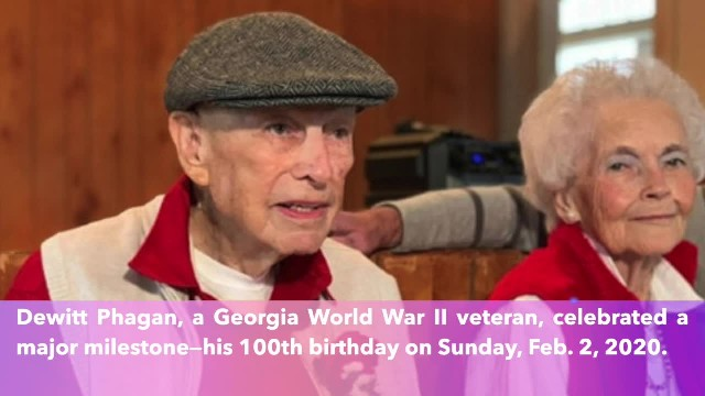 World War II veteran celebrates his 100th birthday—Happy birthday, Phagan!