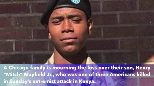 He was one of three soldier killed in Sunday's extremist attack in Kenya He was just 23 years old